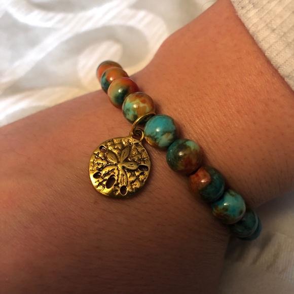 Chavez for Charity multicolored flower bracelet